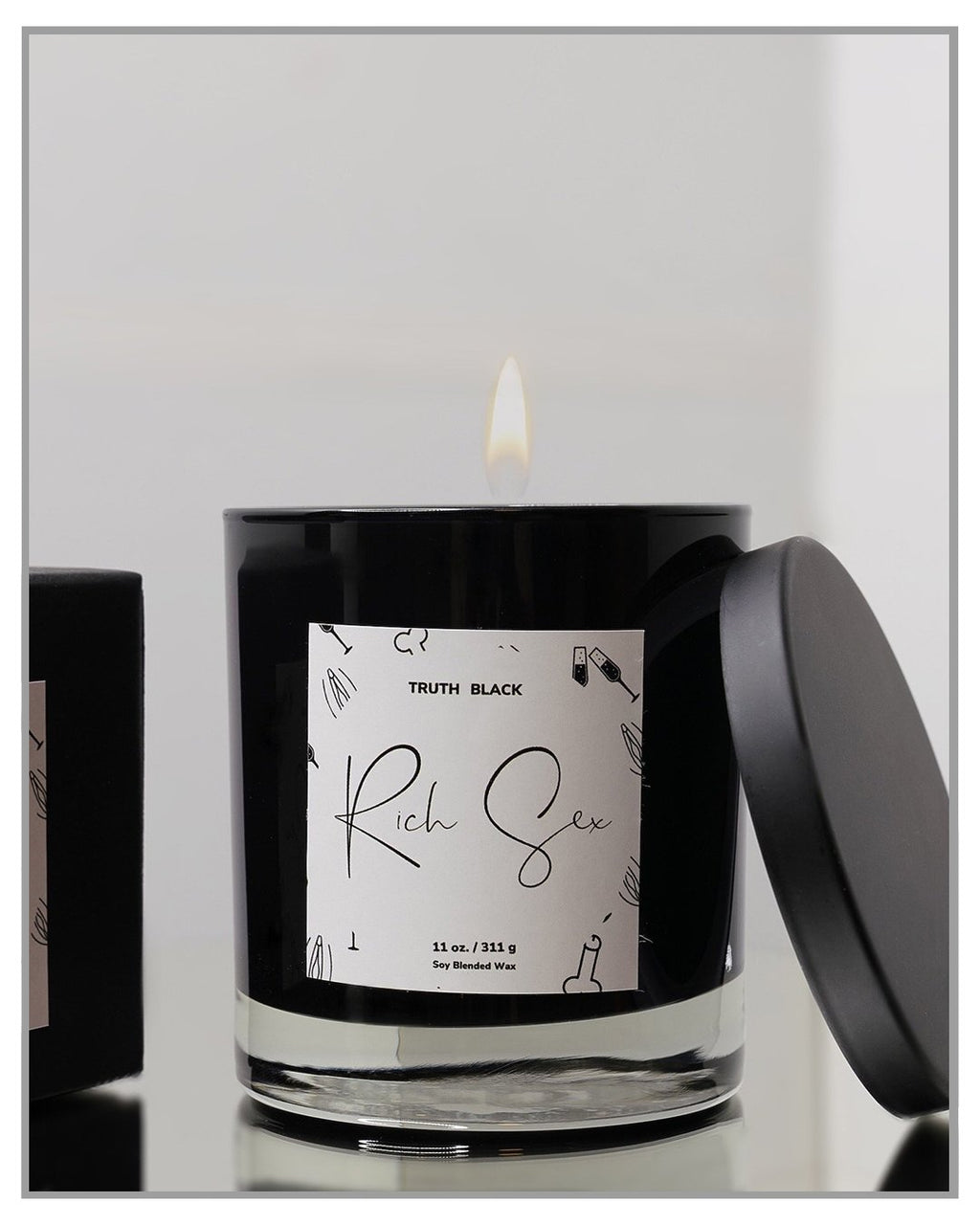 Rich Sex - Luxury Hand Poured Candle - truthBlack