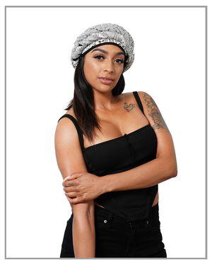 Cut-Out Black & White Durag - truthBlack