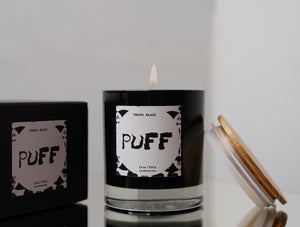 Puff  - Luxury Cannabis Infused Hand Poured Candle - truthBlack