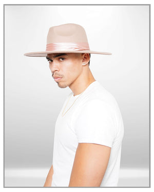 Tan Fedora Hat - truthBlack