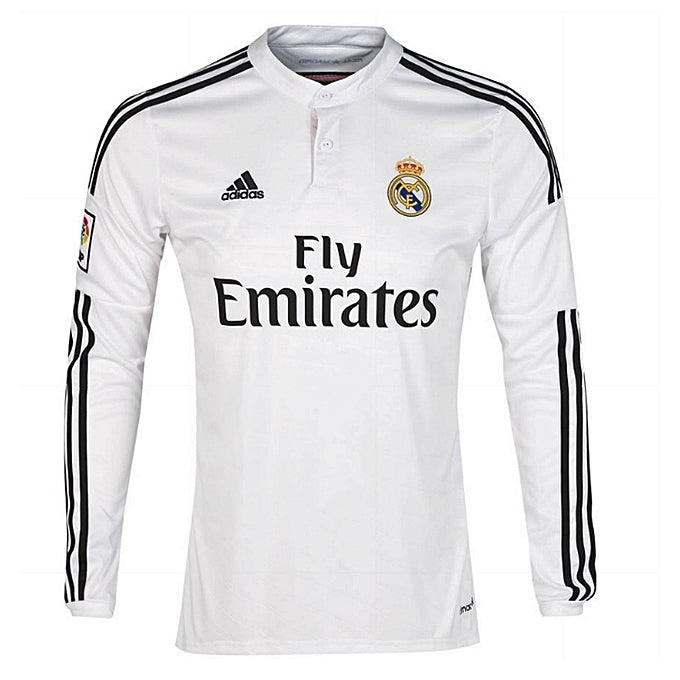 new products 9c818 98ded Replica Real Madrid 2018/19 Long Sleeve Jersey - White