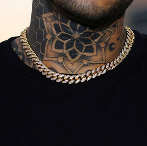 10mm Iced Out Choker Miami Cuban Ketting