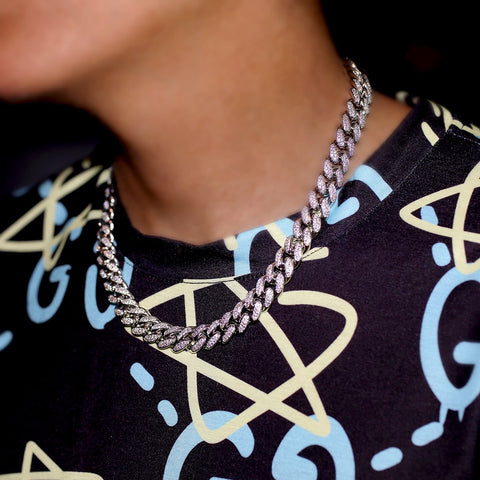 Image of 12mm Iced Out Miami Cuban Ketting