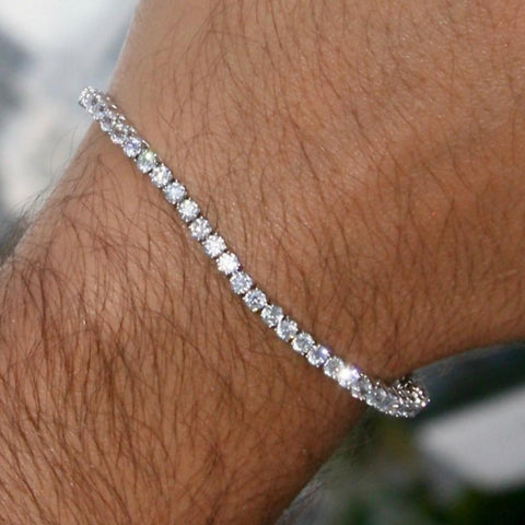 Image of 3mm Silverplated Tennis Armband