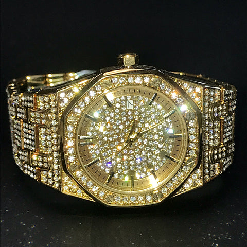 Image of Goldplated Iced Out Royal Watch