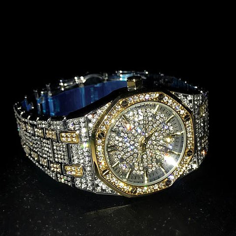 Image of Multi Kleur Iced Out Royal Watch