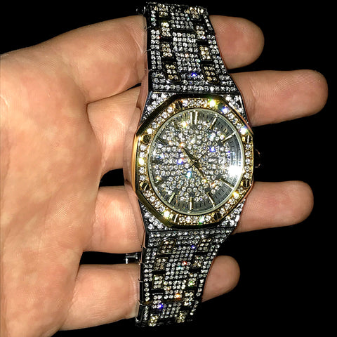 Multi Kleur Iced Out Royal Watch