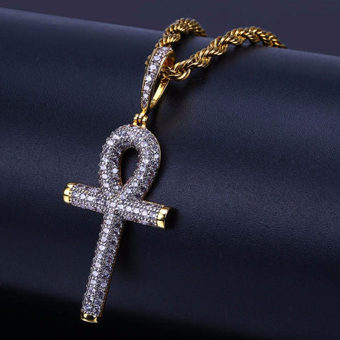 Image of Iced Out Ankh Kruis Hanger