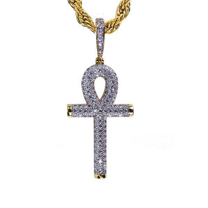 Iced Out Ankh Kruis Hanger