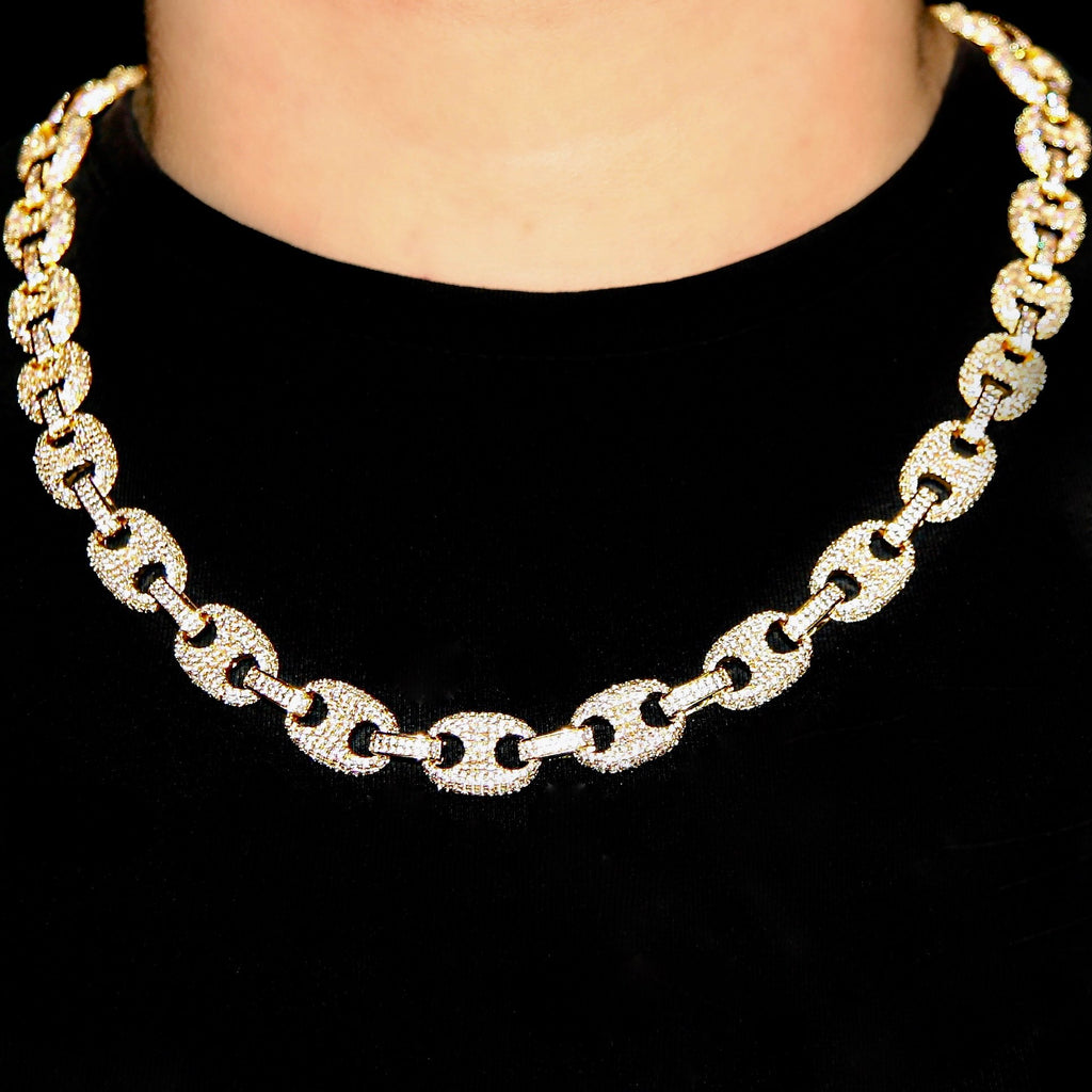 12mm Goldplated Gucci Link Ketting
