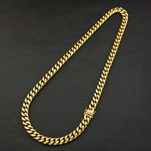 12mm Goldplated Miami Cuban Ketting