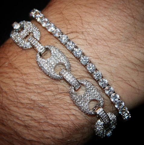 Image of Premium Silverplated Gucci Link Armband