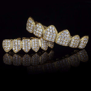 Goldplated Royal Diamanten Grillz Set