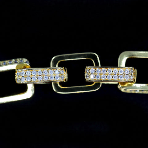 Image of Premium Iced Out Hermes Link Armband