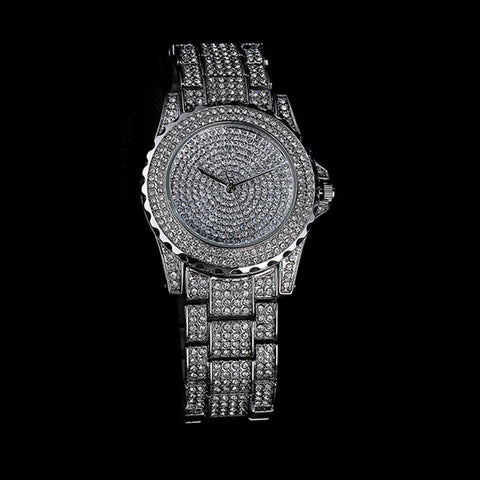 43MM Big Face Iced Out Horloge