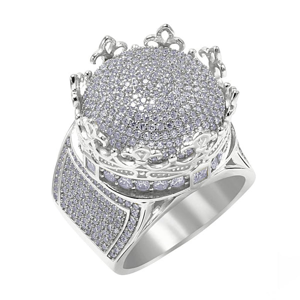 .925 Zilveren Royal Crown Ring