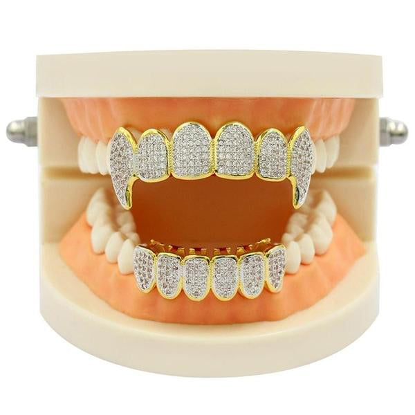 Iced Out Royal Multi Fang Grillz Set