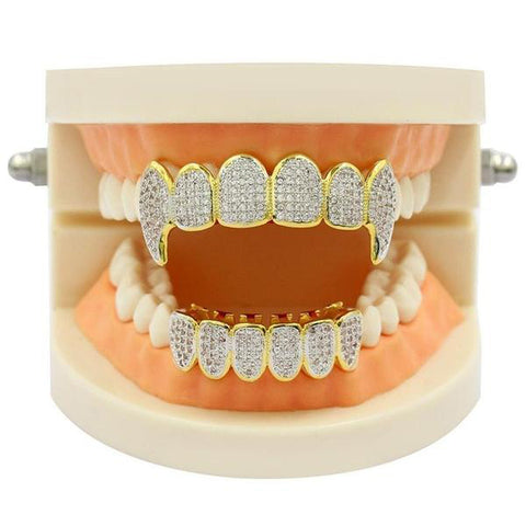 Image of Iced Out Royal Multi Fang Grillz Set
