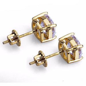 8mm Goldplated Lab Diamanten Oorbellen