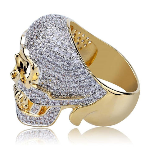 Image of Iced Out Biker Skull Ring - ICED OUT
