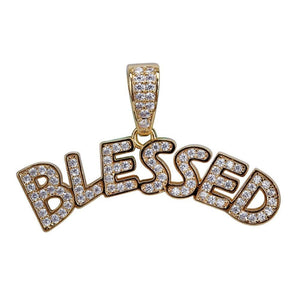 Iced Out Blessed Hanger - ICED OUT