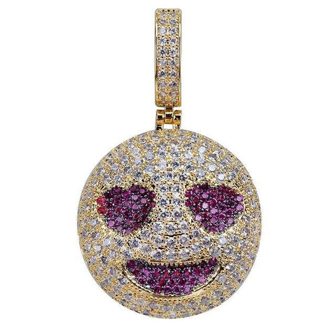 Iced Out Hartjes Ogen Emoji Hanger - ICED OUT