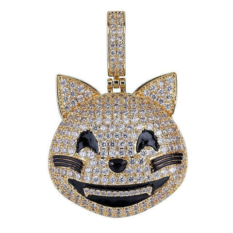 Iced Out Lachende Kat Emoji Hanger - ICED OUT