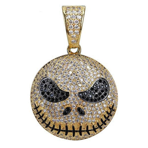 Goldplated Jack Skellington Emoji Hanger - ICED OUT