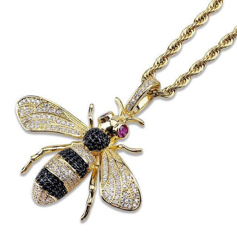 Custom made Gucci Bee Hanger - ICED OUT
