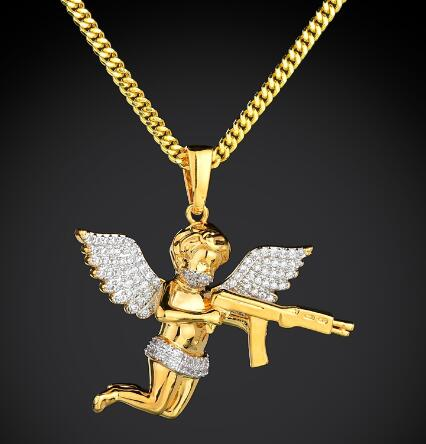 Engel met Ak47 Hanger - ICED OUT