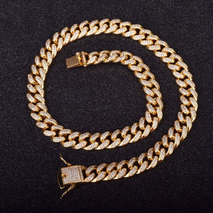 12mm Goldplated Iced Miami Cuban