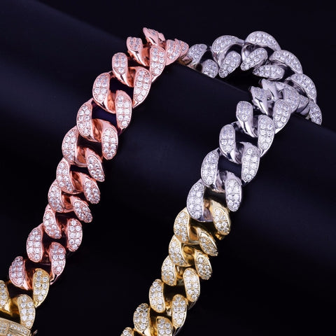 20mm Multi Kleur Miami Cuban Ketting - ICED OUT