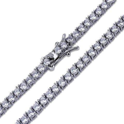 Image of 3mm Silverplated Tennis Armband - ICED OUT