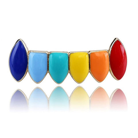 Image of Tekashi69 Regenboogkleuren Grillz Set - ICED OUT