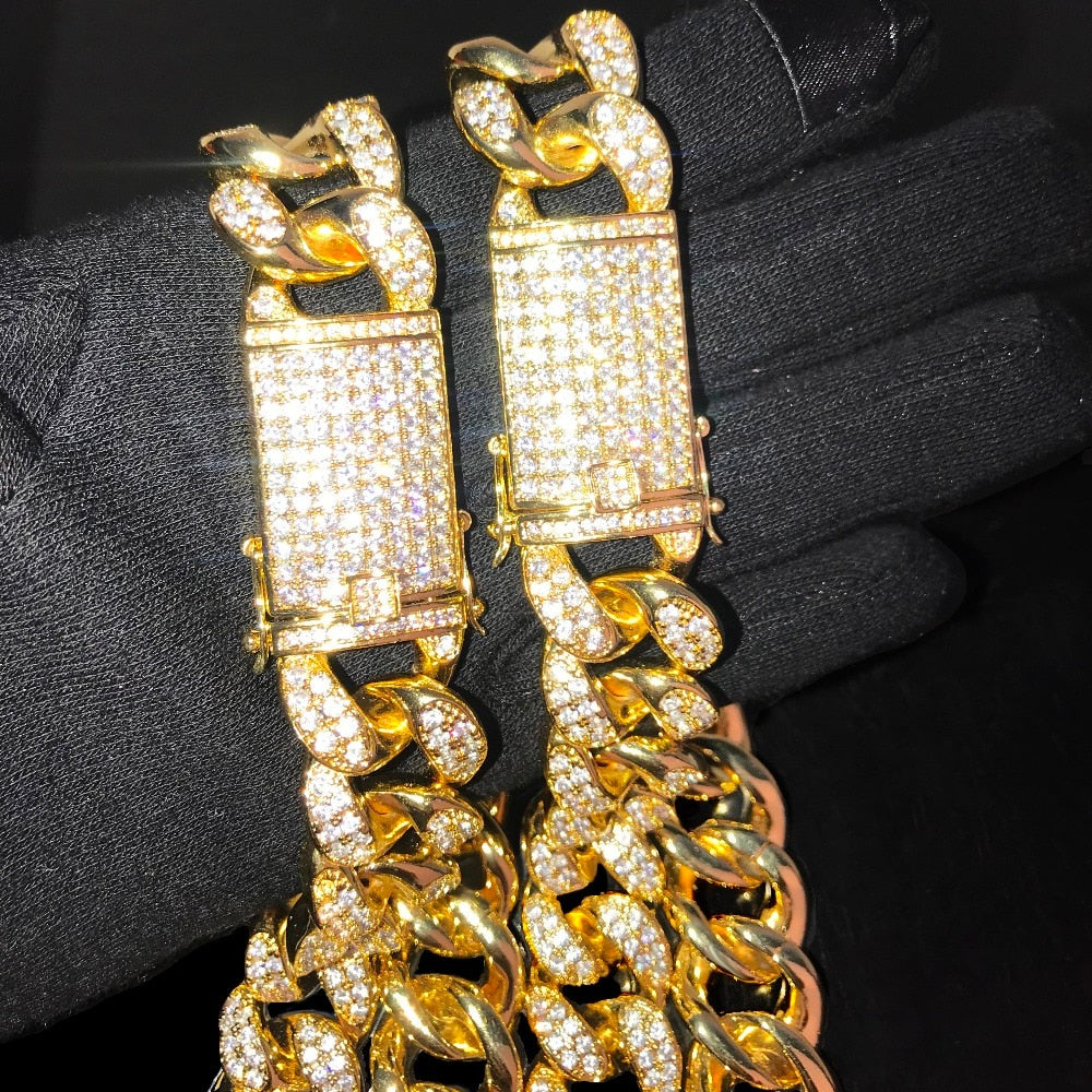 20mm Goldplated Miami Cuban **Combo Deal - ICED OUT