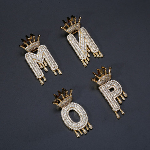 Image of Iced Out Kroon Letter Hanger - ICED OUT