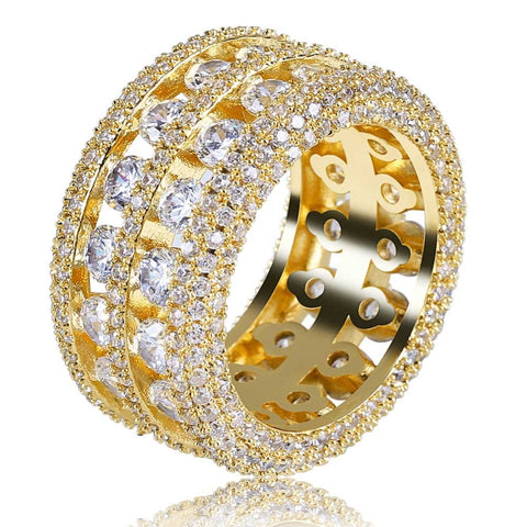 Image of Iced Out Exclusieve Dubbele Rij Ring - ICED OUT