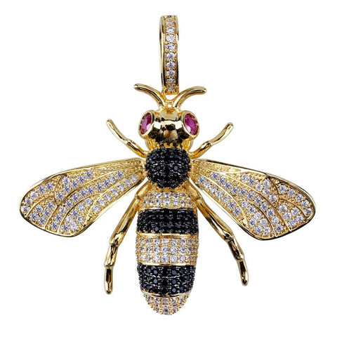 Image of Custom made Gucci Bee Hanger - ICED OUT