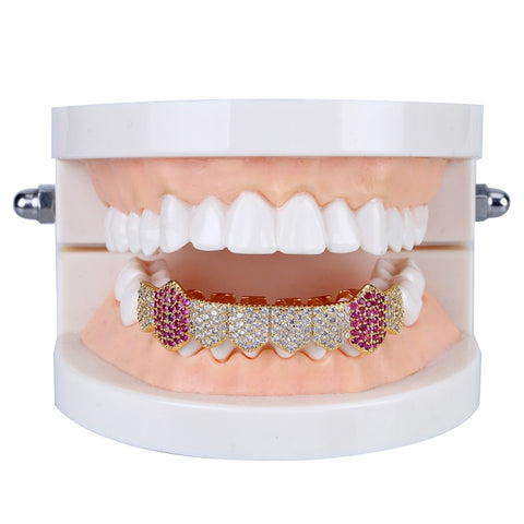 Image of Royal Pink Lab Diamanten Fang Grill