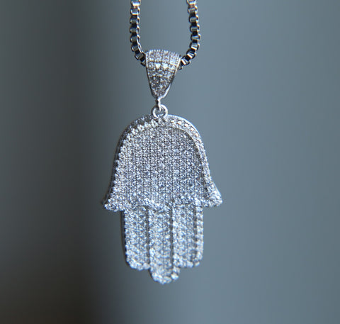 Image of Hamsa Hand Hanger - ICED OUT