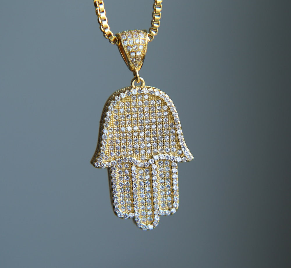 Hamsa Hand Hanger - ICED OUT
