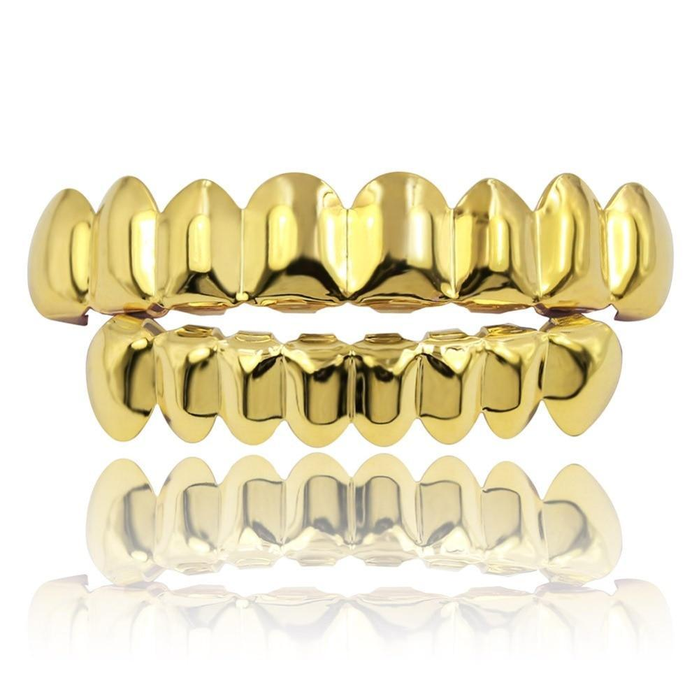8/8 Goldplated Grillz Set - ICED OUT