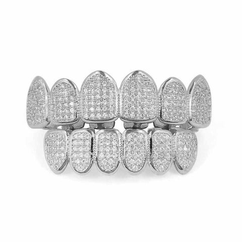 Image of 6/6 Multi Iced Out Grillz Set