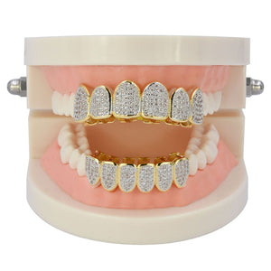 6/6 Multi Iced Out Grillz Set