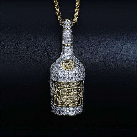 Custom Iced Out Fles Drank Hanger
