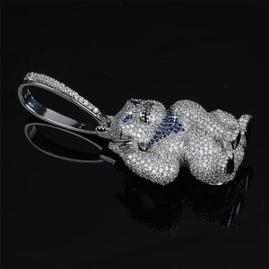 Silverplated Gorilla met blauwe bandana