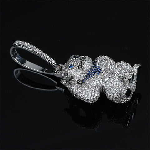 Image of Silverplated Gorilla met blauwe bandana