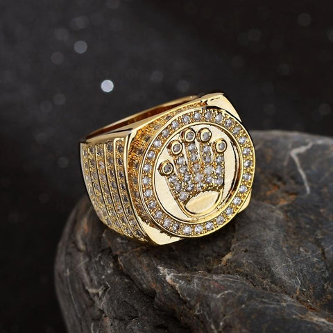 Image of Goldplated Iced Out Kroon Ring