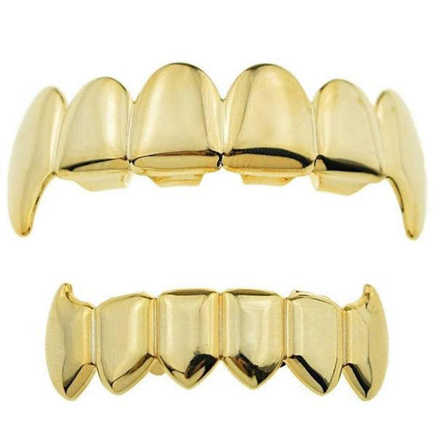 Goldplated Fang Grillz Set