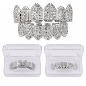 Silverplated Royal Diamanten Grillz Set